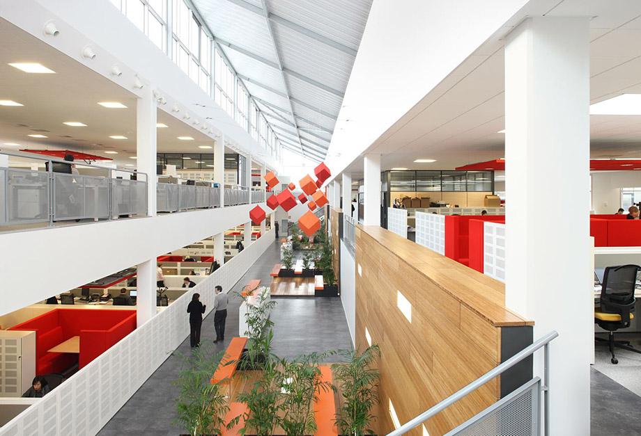 Bureaux en open space sakariba agence d architectes valenciennes